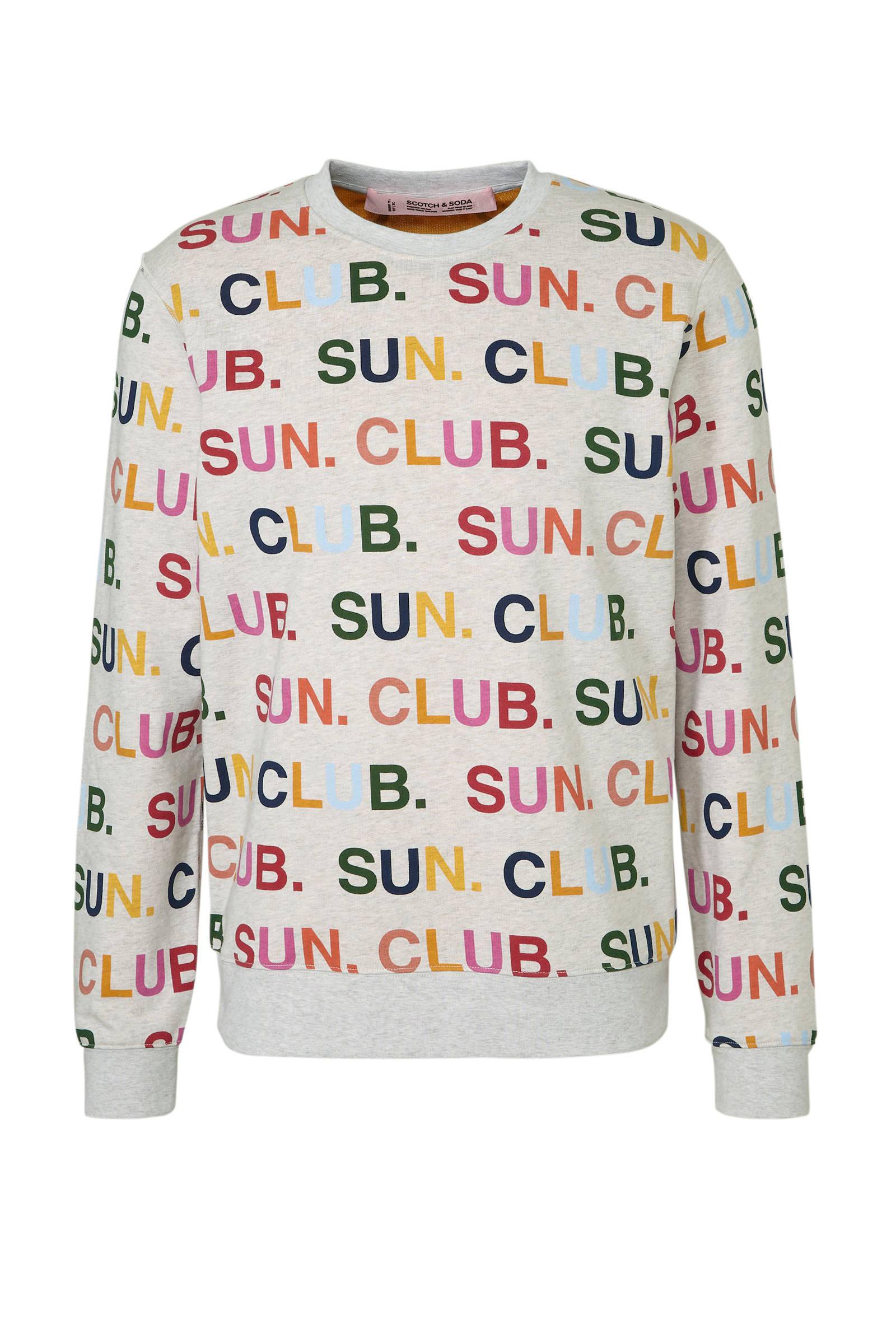 f4314c91252 gemêleerde sweater met print grijs