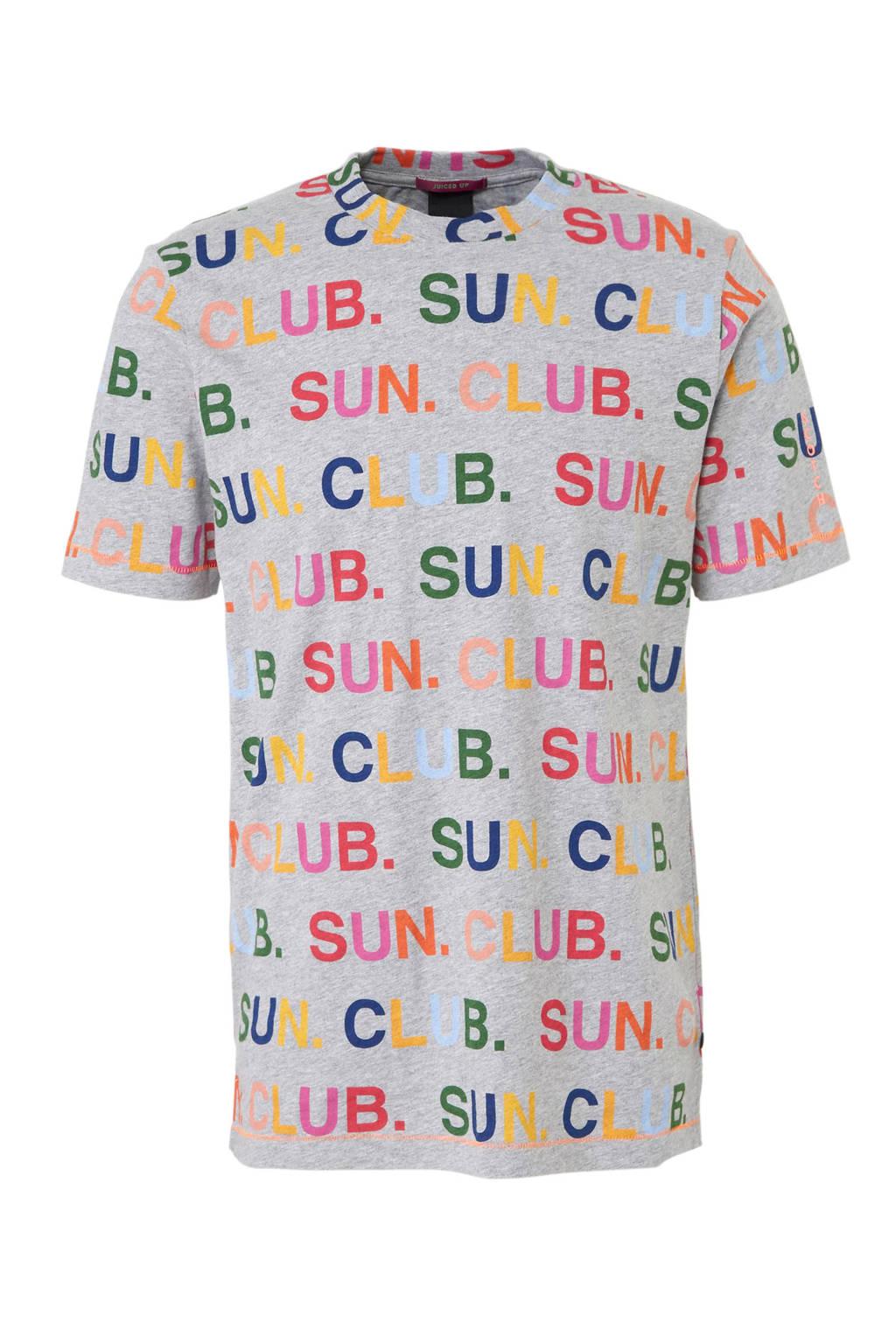 Scotch & Soda T-shirt met tekstprint, Grijs/ Multi-kleur