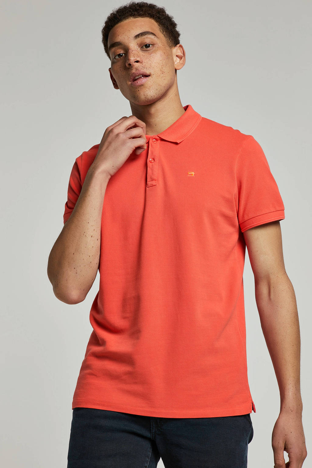 Scotch & Soda regular fit polo rood, Rood
