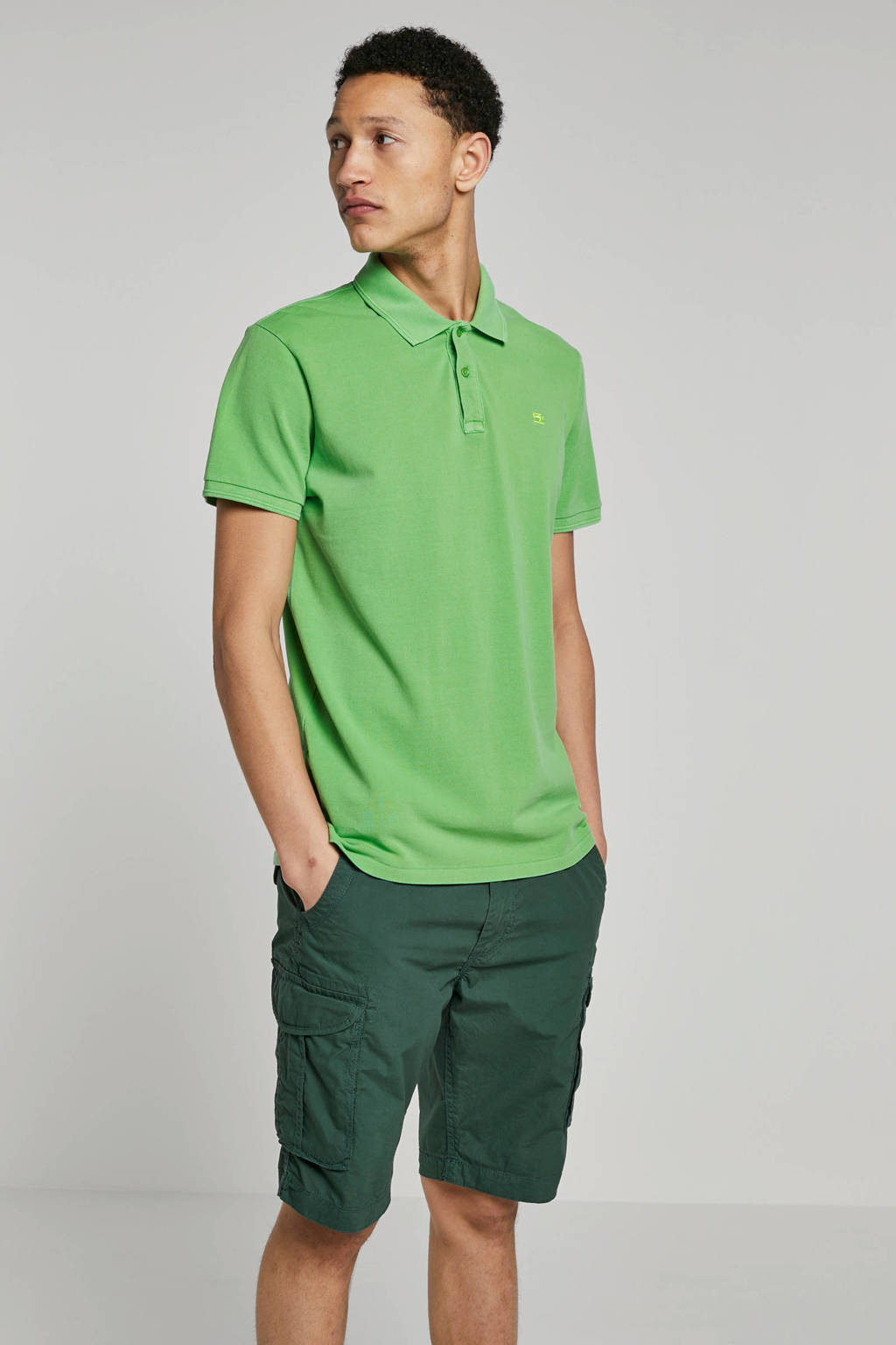 Scotch & Soda regular fit polo groen, Groen