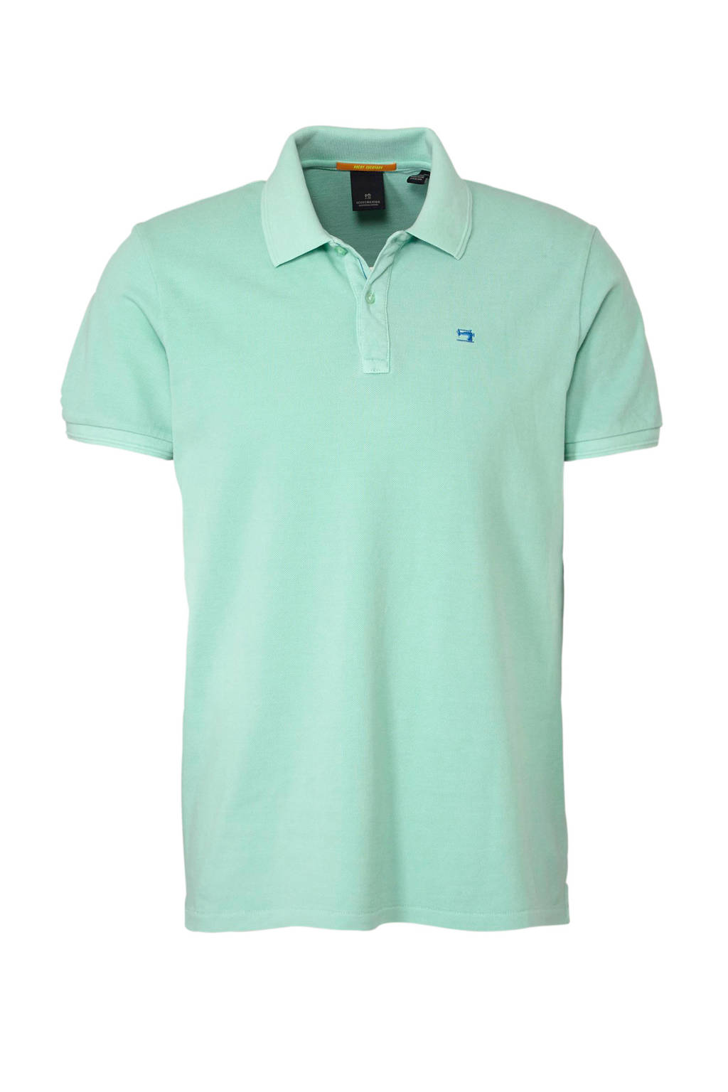 Scotch & Soda regular fit polo turquoise, Turquoise
