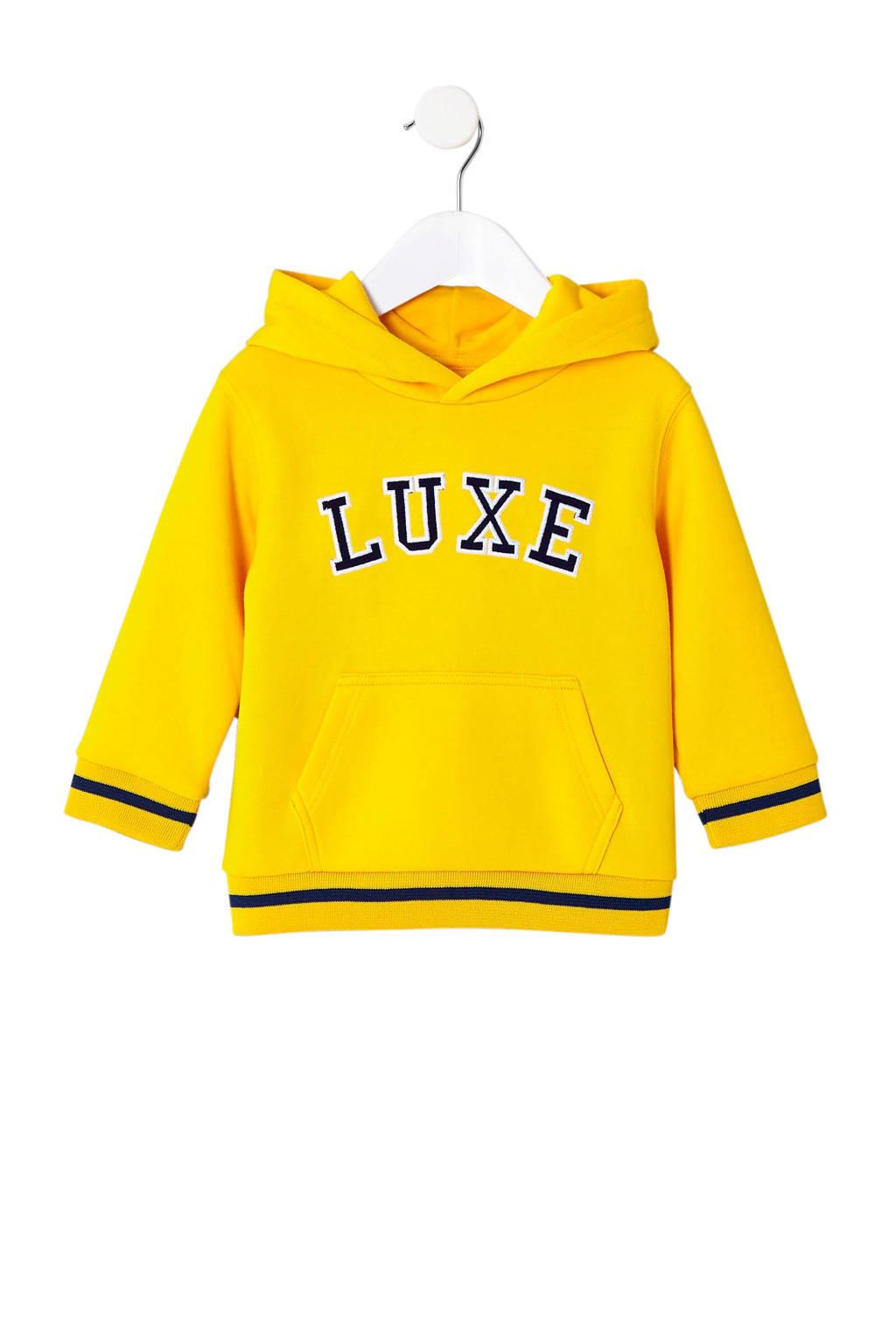 River Island hoodie met tekst geel, Geel