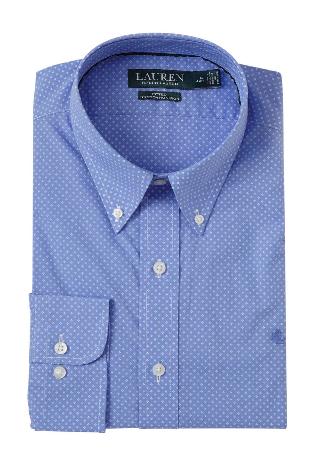 POLO Ralph Lauren regular fit overhemd met all over print blauw, Blauw