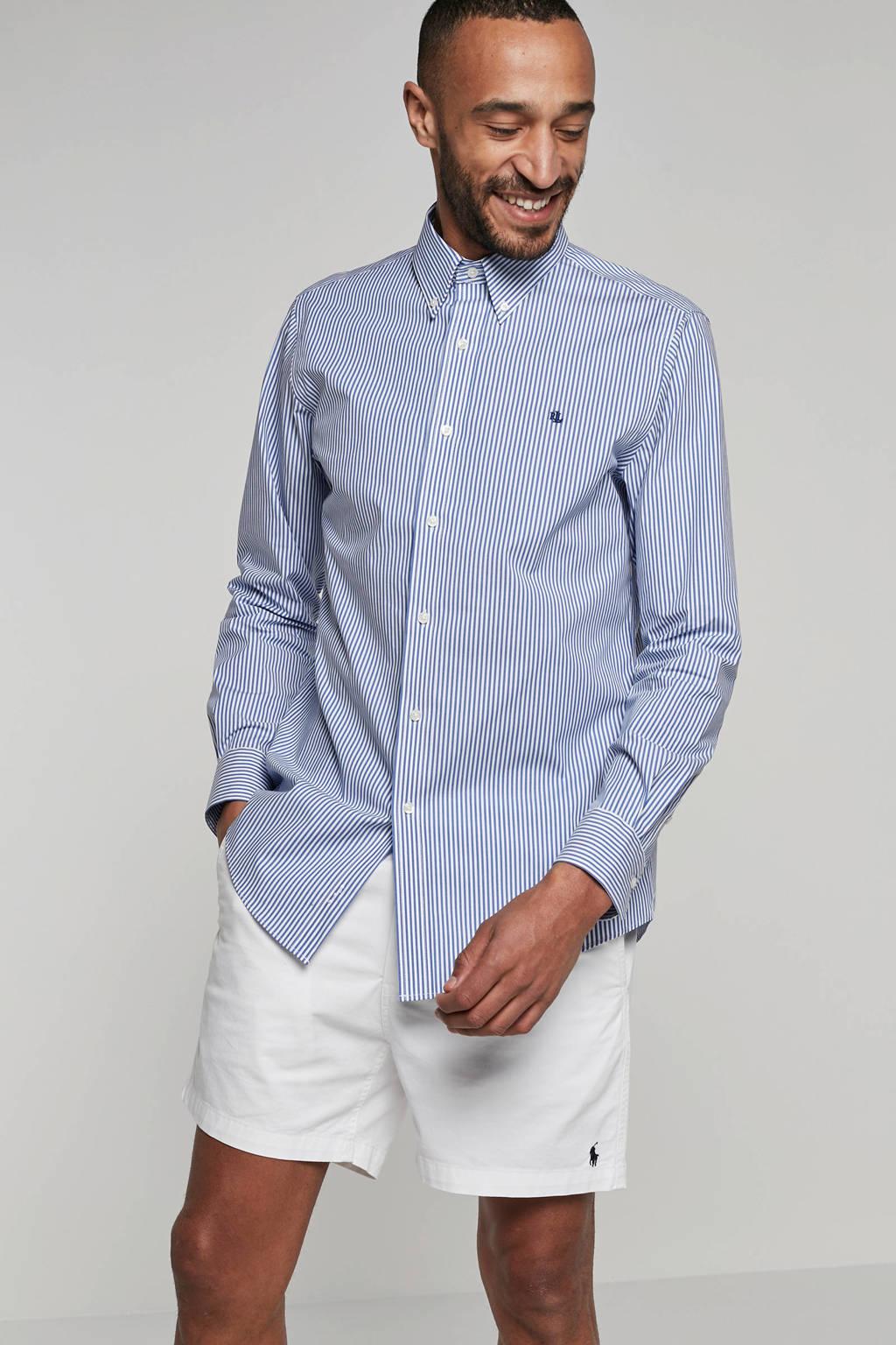 POLO Ralph Lauren gestreept regular fit overhemd blauw, Blauw/wit