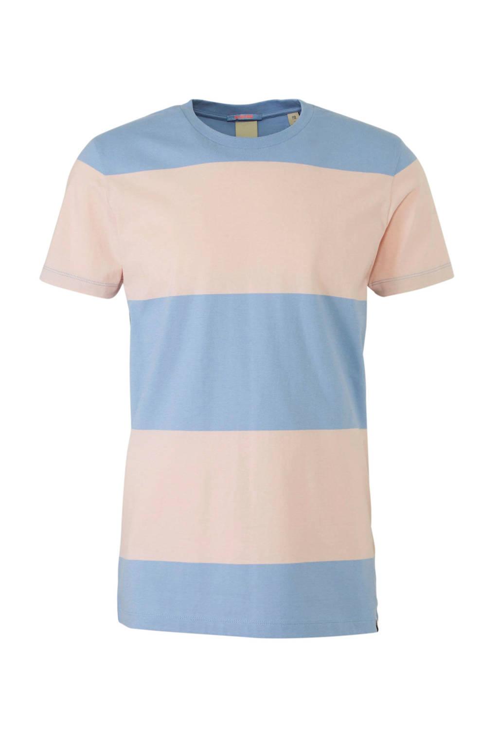 Scotch & Soda T-shirt, Lichtroze/lichtblauw