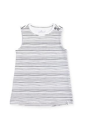 gestreepte baby jurk zwart/wit