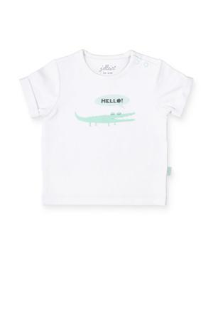 baby T-shirt met print wit
