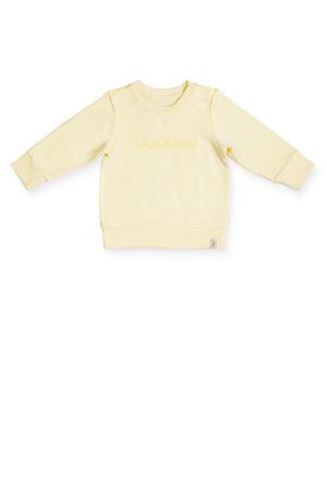 baby sweater met tekst geel