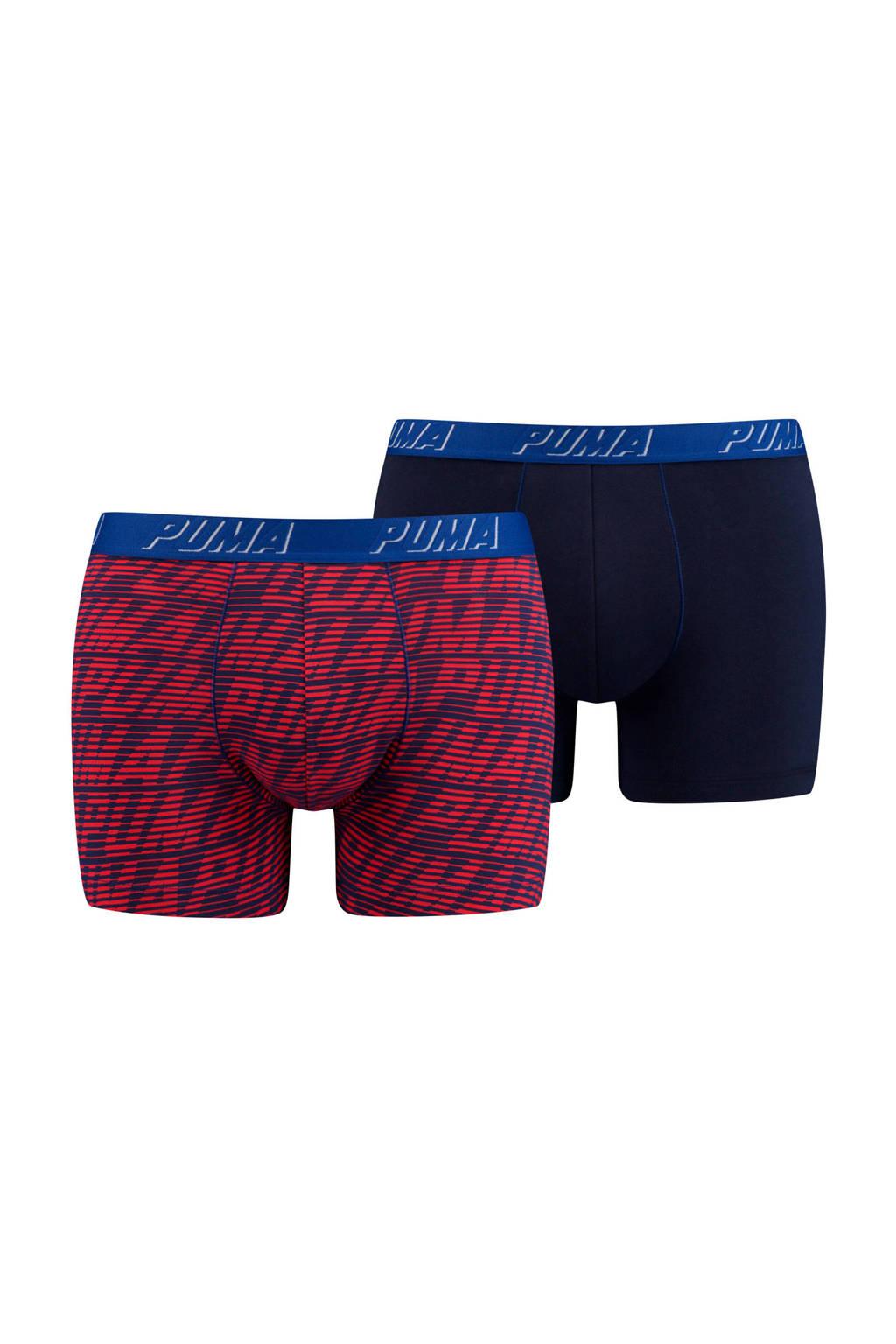 Puma Bodywear boxershort (set van 2), Rood/zwart