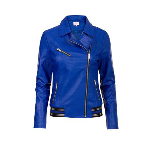 Miss Etam Regulier bikerjack blauw kopen