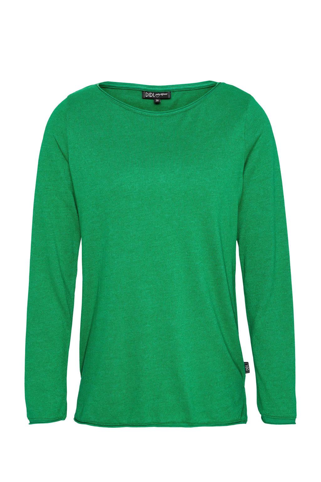 Didi top met splitjes groen, Groen
