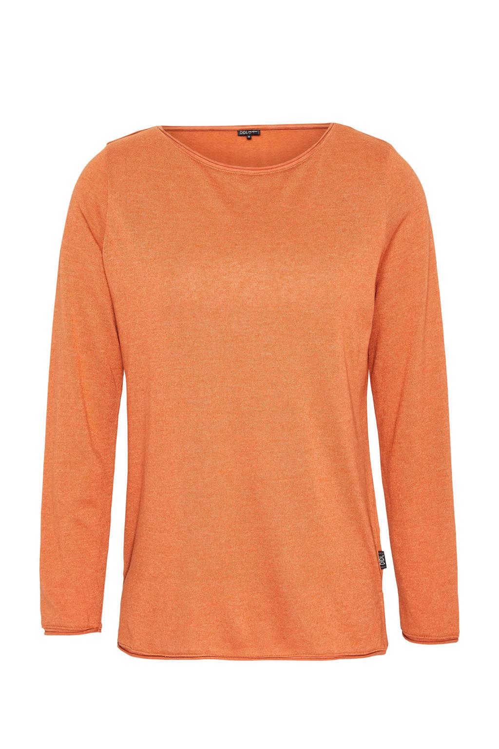 Didi top met splitjes oranje, Oranje