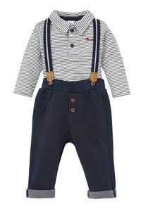 C&A Baby Club polo + broek + bretels, Donkerblauw