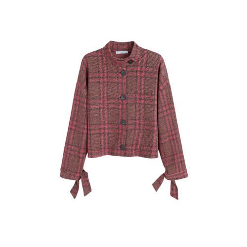 Mango tweed blazer roze kopen
