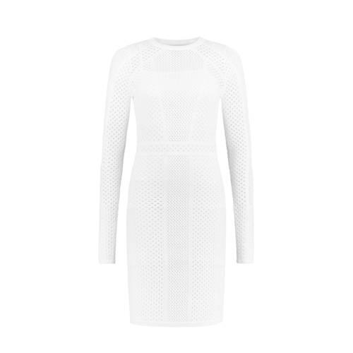 NIKKIE Juna jurk met open details wit