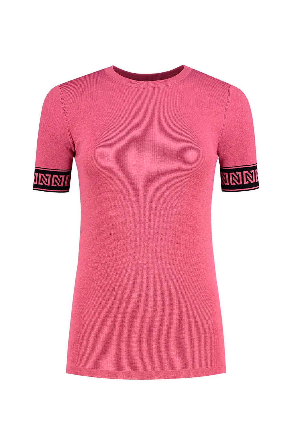 NIKKIE T-shirt Jolie roze/zwart, Roze/zwart