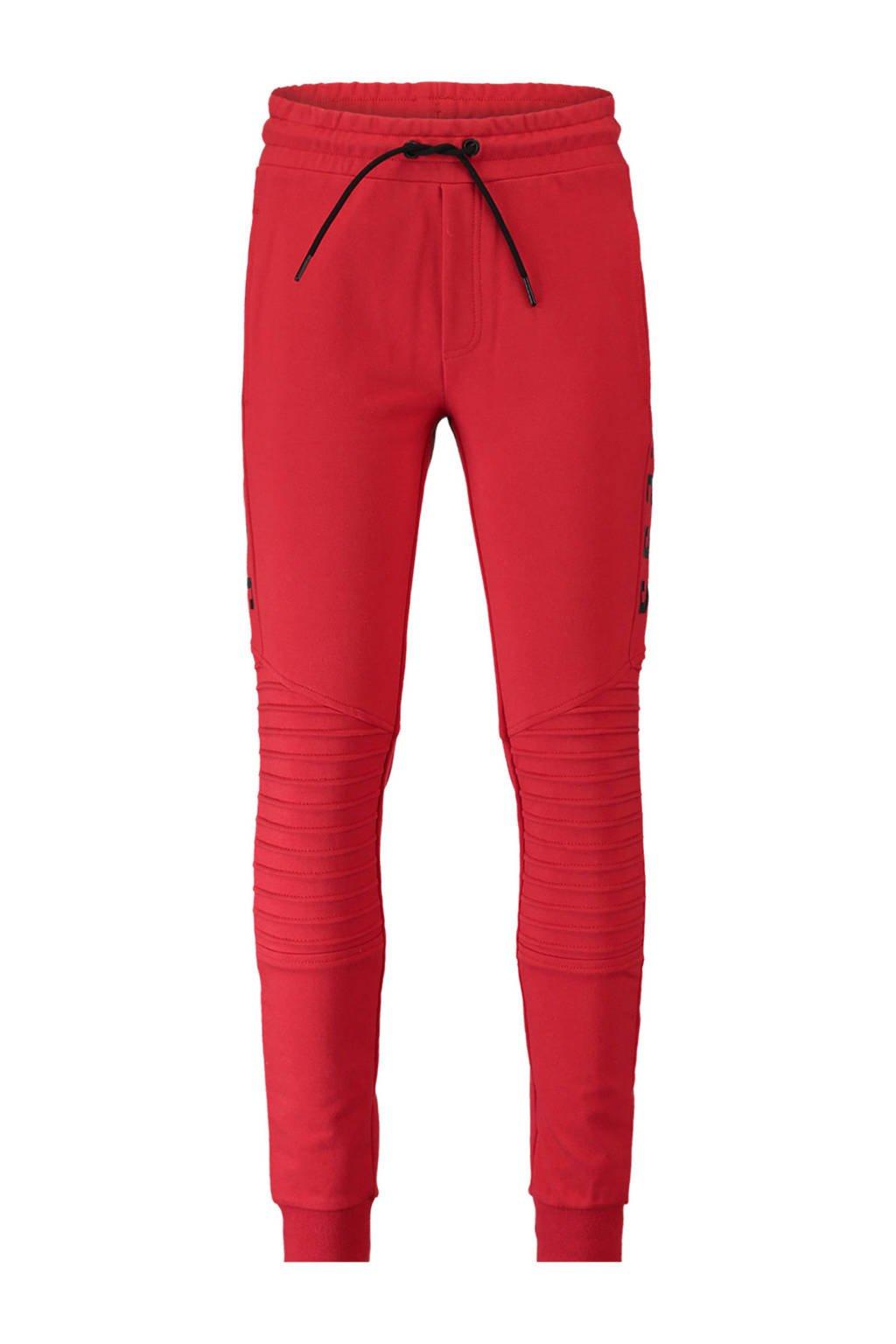 CoolCat   joggingbroek met ribbels rood, Rood