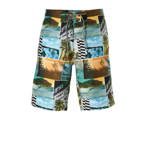 Protest boardshort in all over print groen kopen