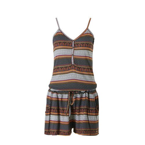 Protest playsuit in een all over print zwart