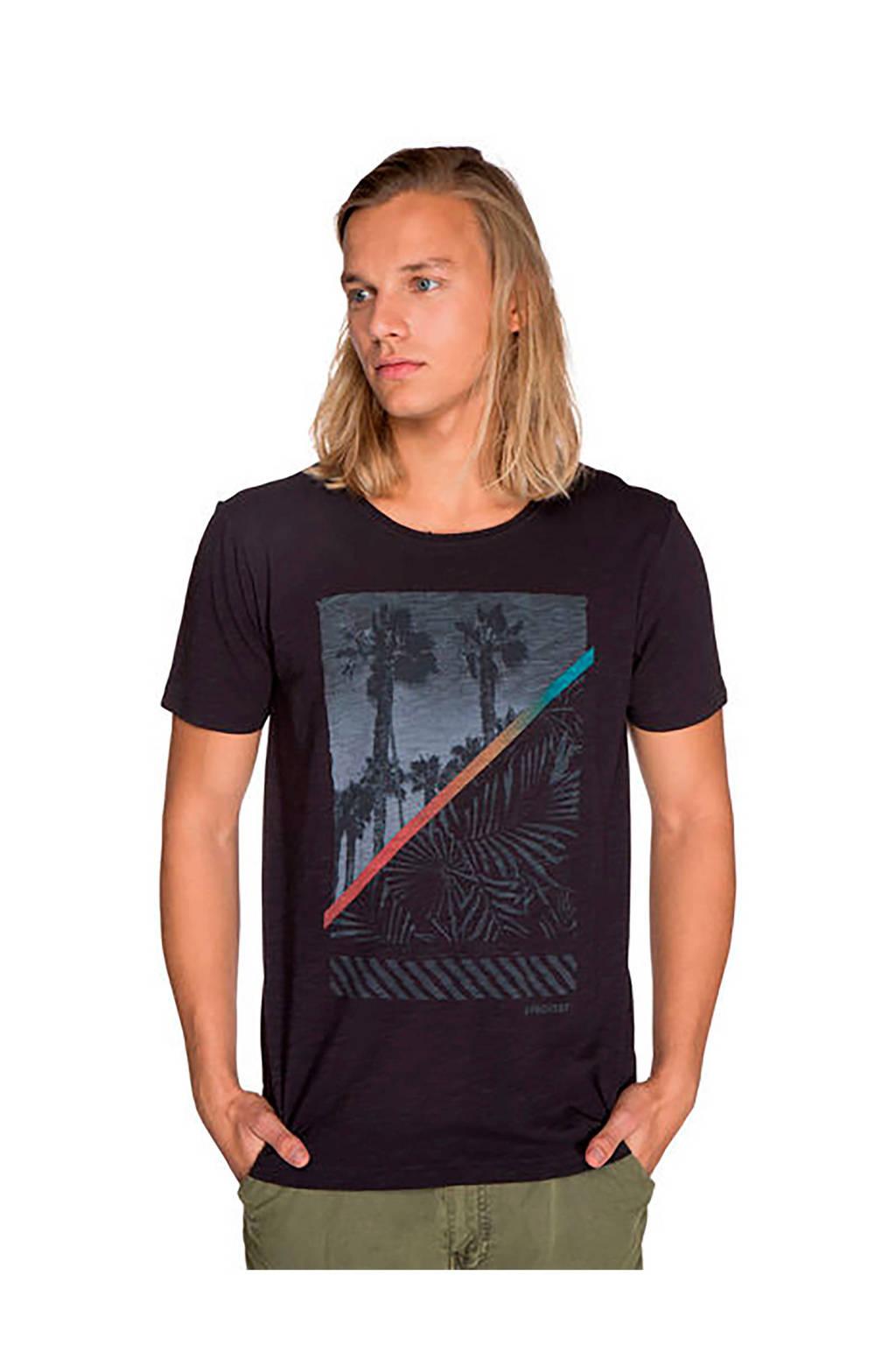 Protest T-shirt met printopdruk zwart, Zwart