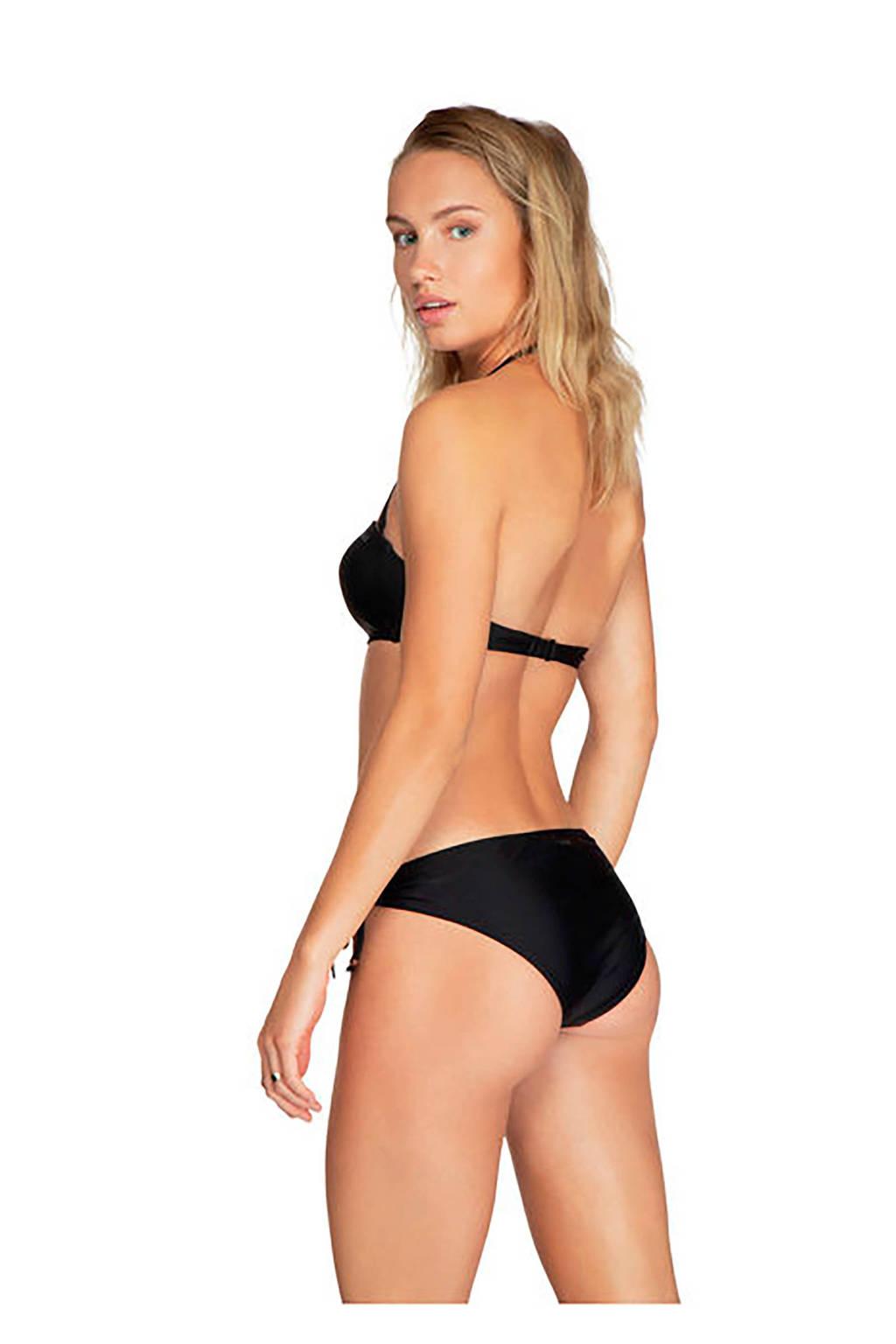 Protest strik bikinibroek zwart, Zwart