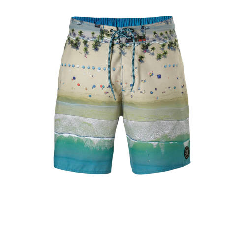 Protest boardshort in een all over print groen kopen