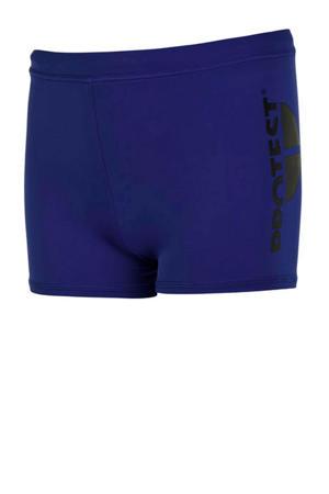 zwemboxer met printopdruk blauw