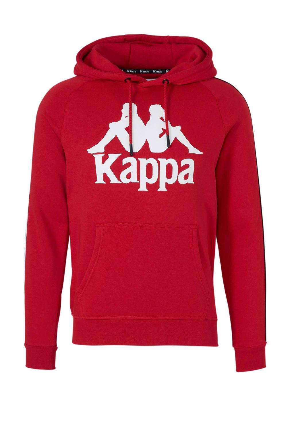 Kappa   sweater met printopdruk rood/wit, Rood/wit