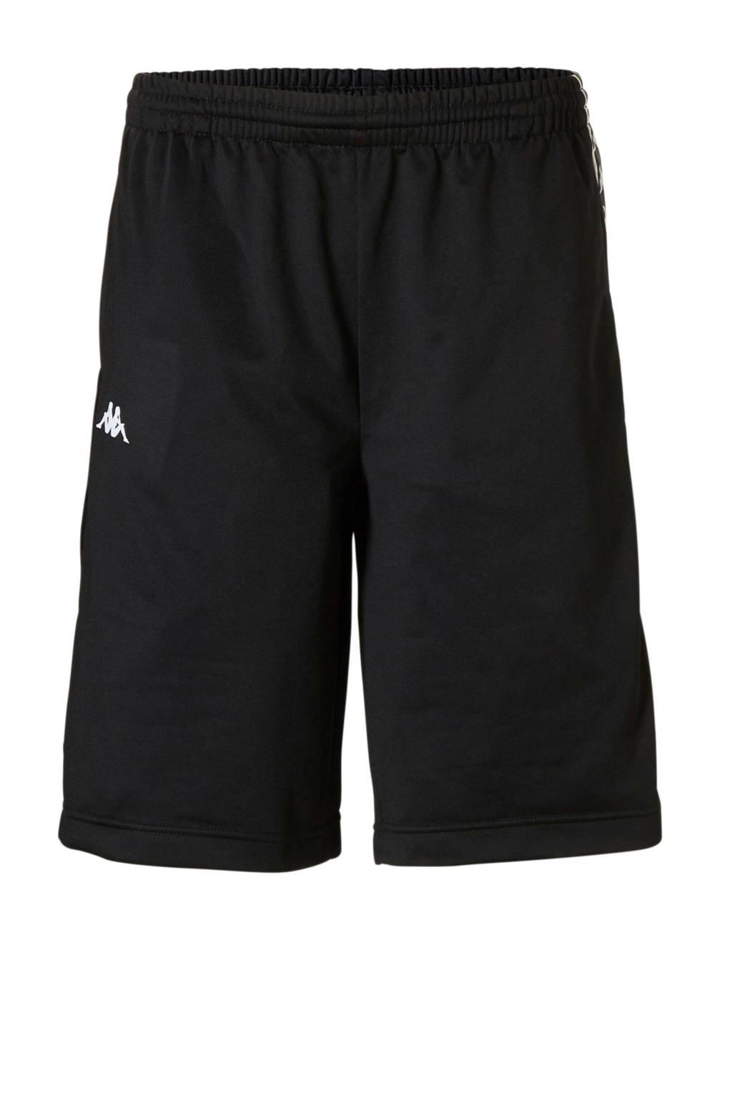 Kappa   short met zijstrepen zwart/wit, Zwart/wit
