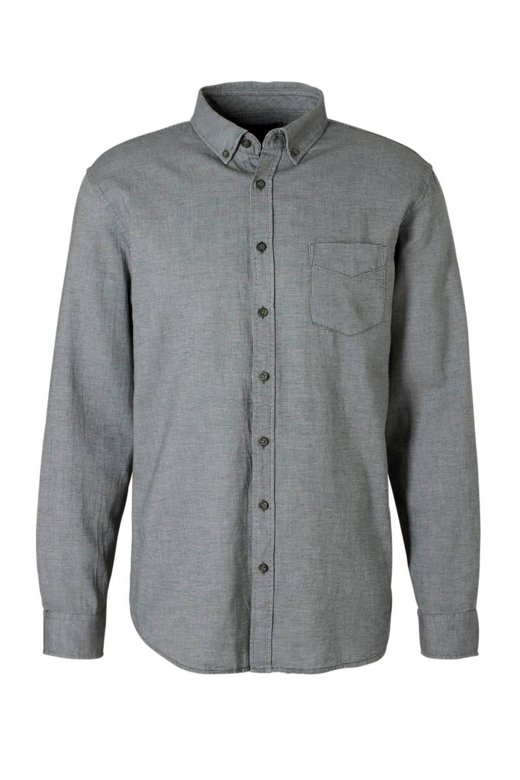 C&A Canda regular fit overhemd grijs, Grijs