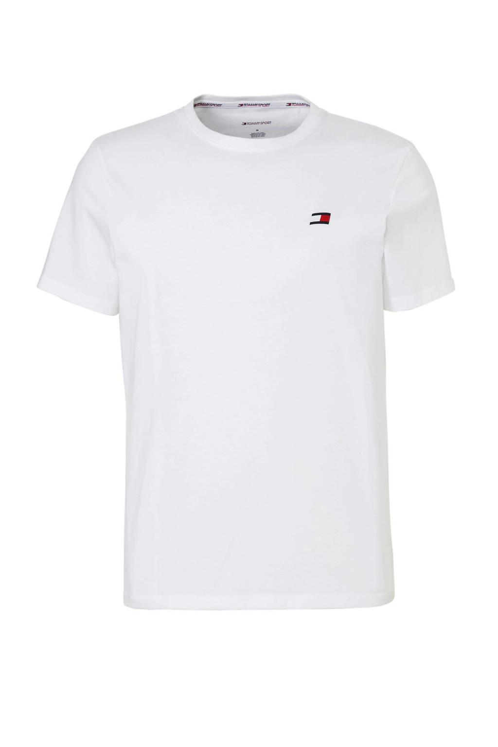 Tommy Sport   sport T-shirt wit, Wit