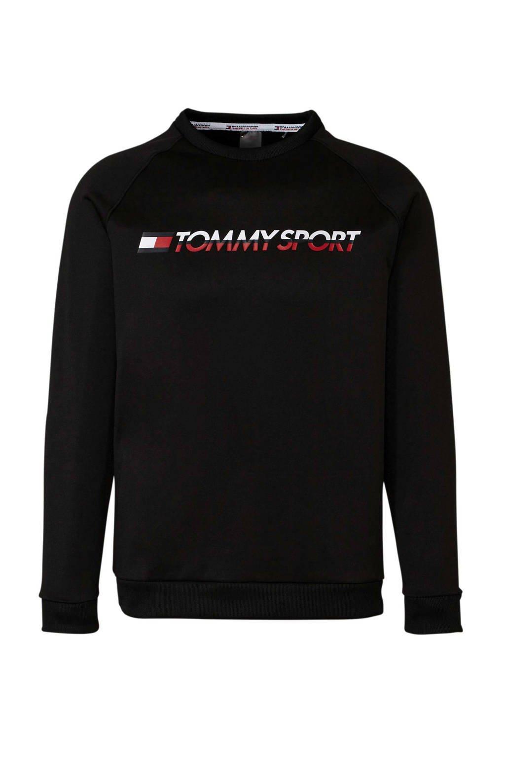 Tommy Sport   sportsweater zwart, Zwart