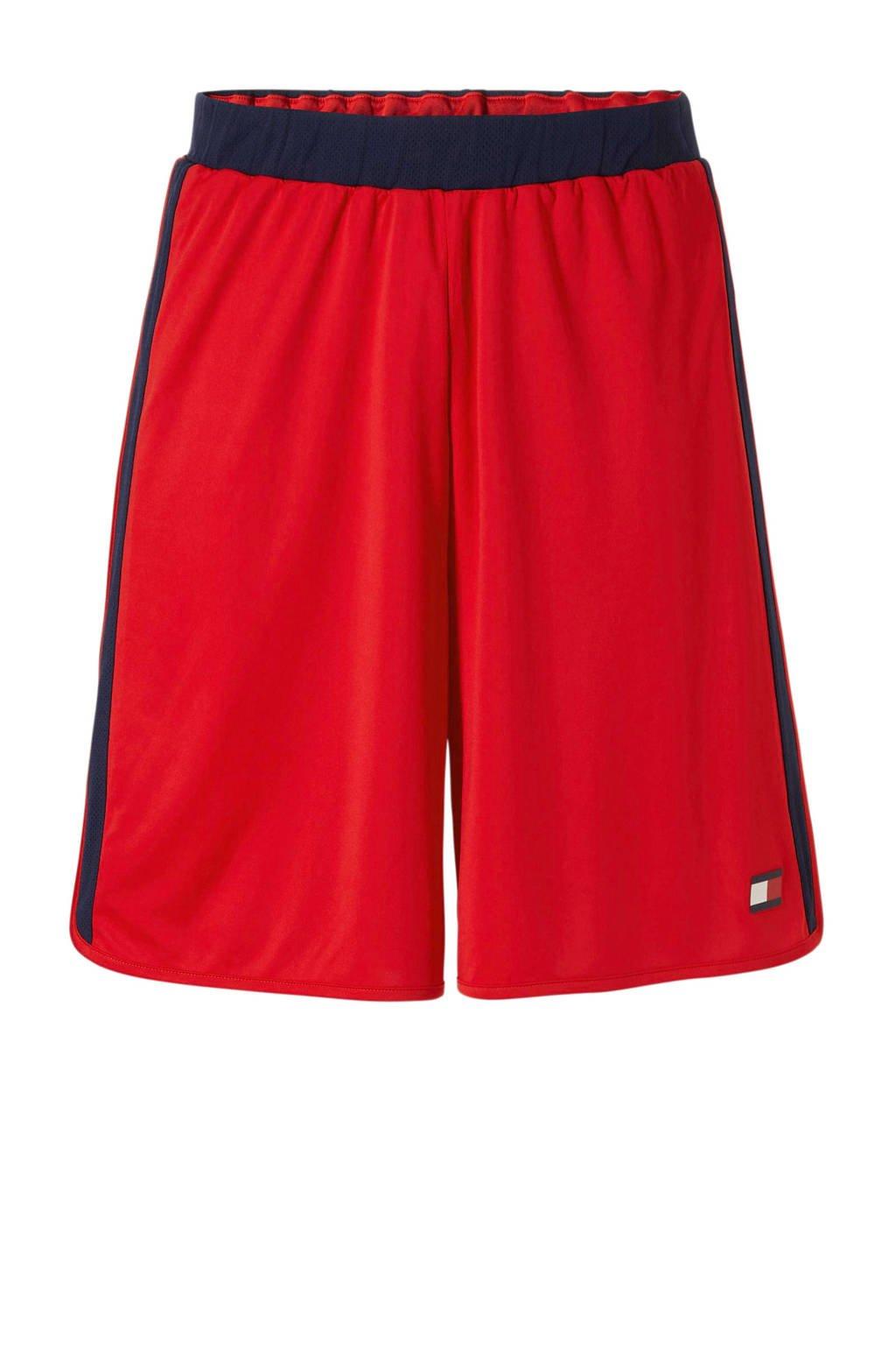 Tommy Sport   sportshort rood/donkerblauw, Rood/donkerblauw