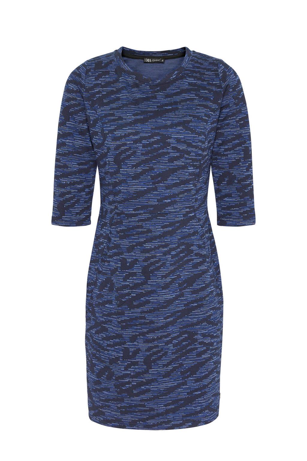 Didi jurk met all over print, Donkerblauw