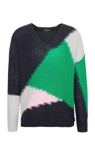 trui met kleurenblokken