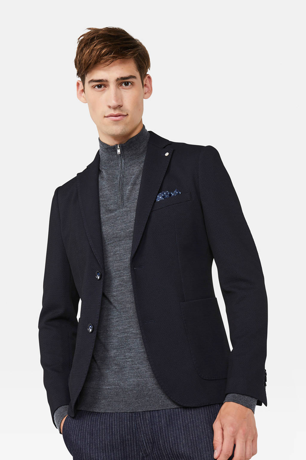 WE Fashion super slim fit colbert royal navy, Royal Navy