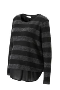 C&A Yessica zwangerschaps fleecetrui met blousedetail zwart (dames)
