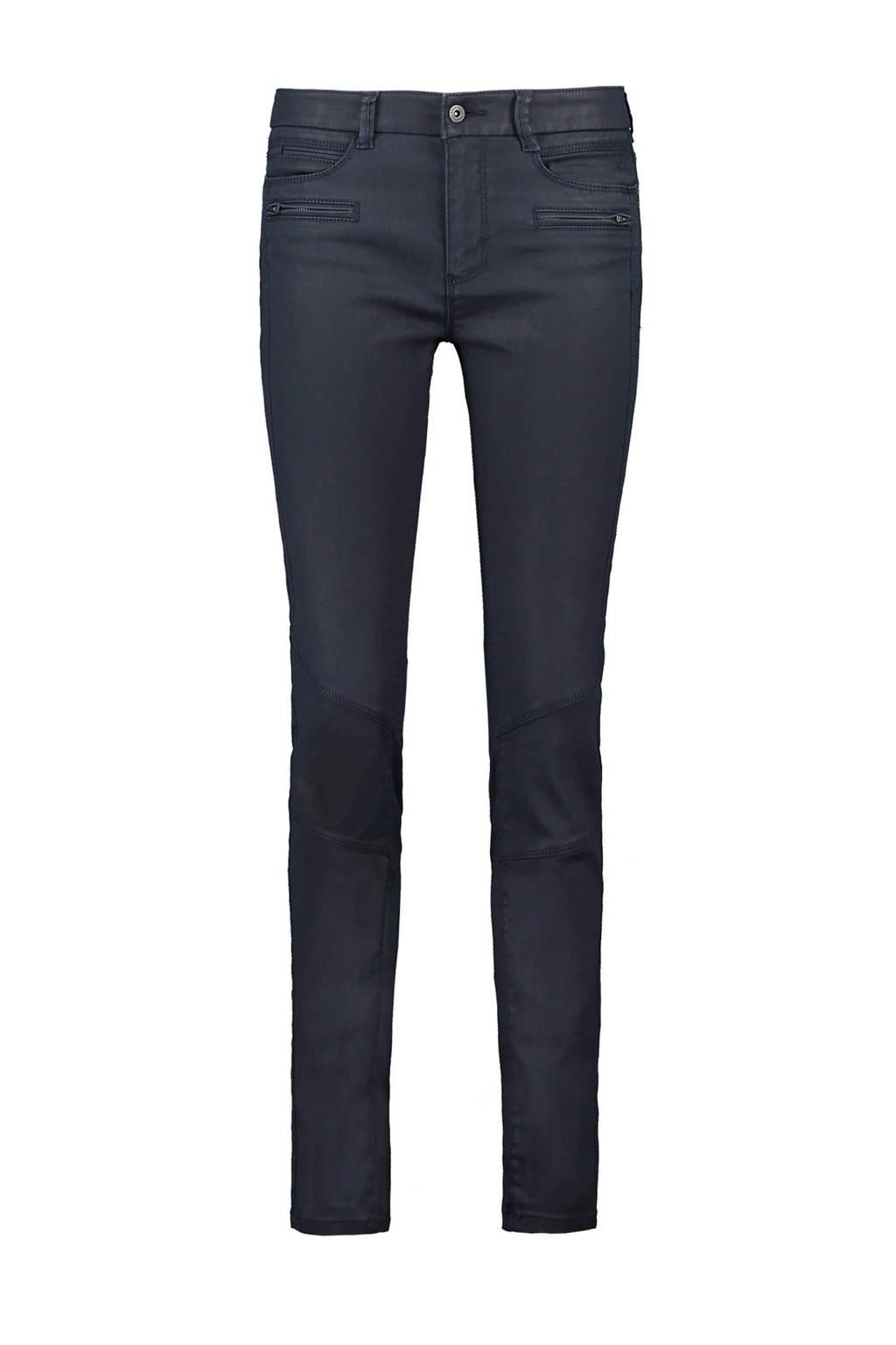 Expresso coated slim fit broek Amanda staalblauw, Staalblauw