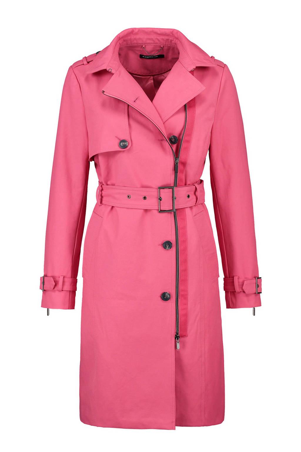 Expresso trenchcoat Amilou roze, Roze