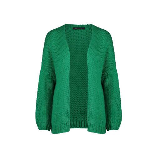 Expresso grof gebreid vest met wol Butterfly groen kopen