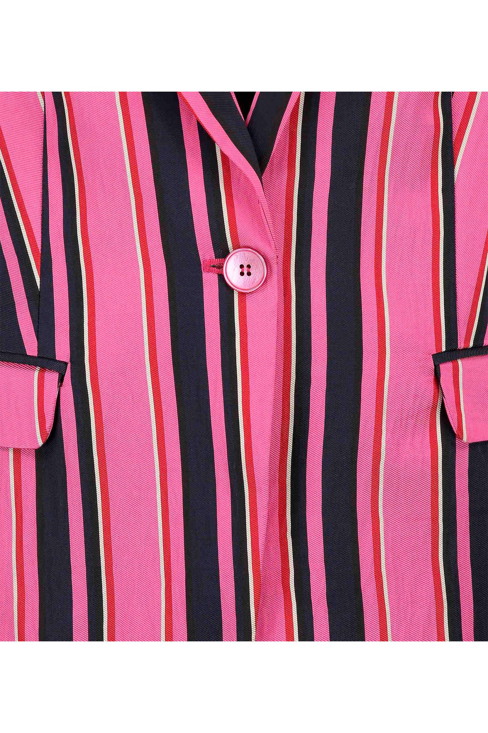 Expresso gestreepte satijnen blazer roze | wehkamp