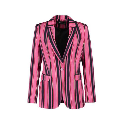 Expresso gestreepte blazer Anja roze kopen