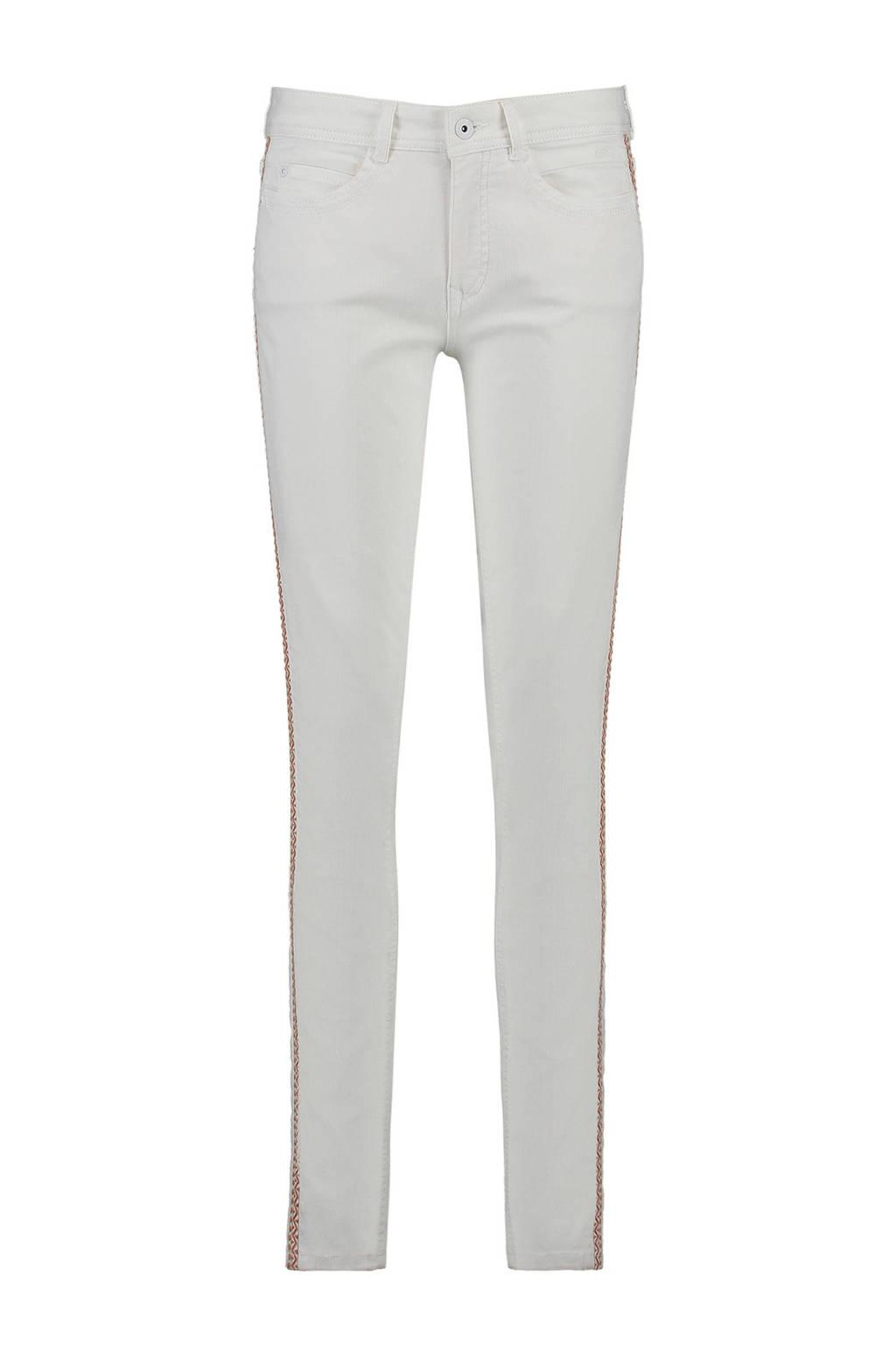 Expresso slim fit broek met zijstreep gebroken wit, Gebroken wit