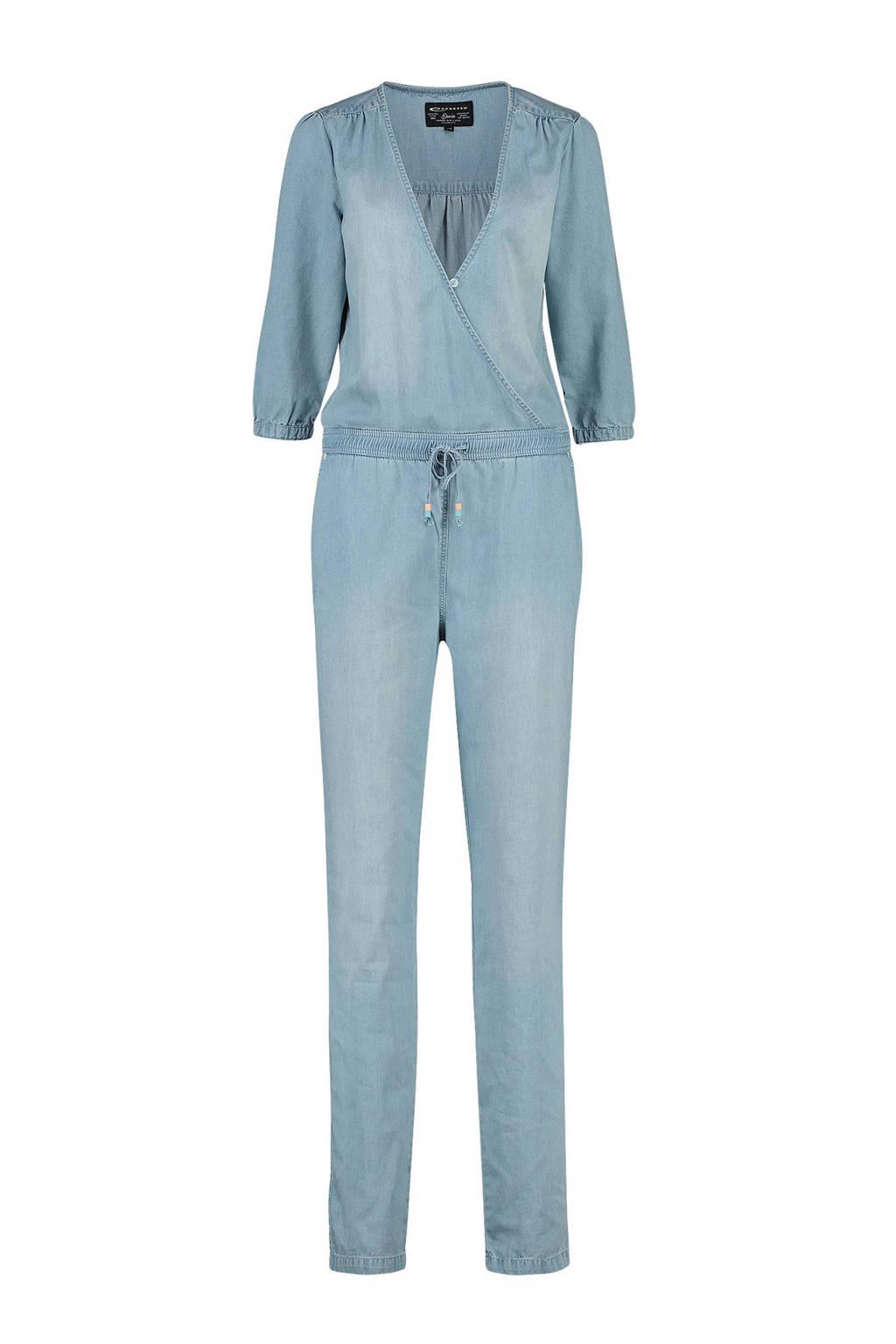 Expresso jumpsuit Dionne in denim look, Lichtblauw