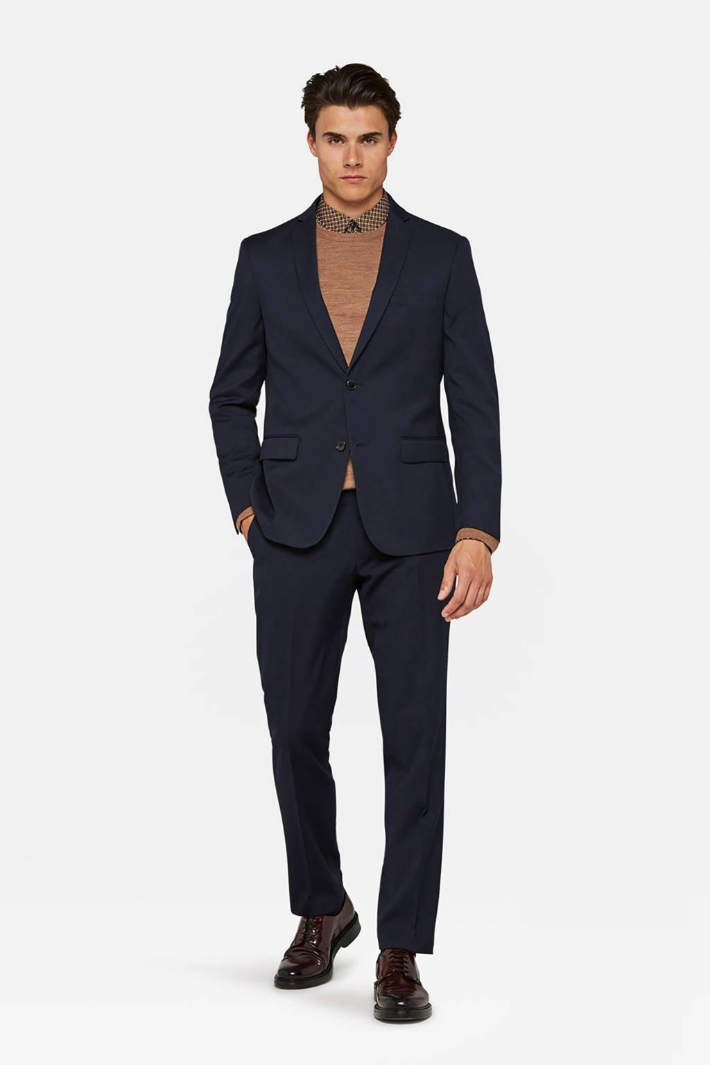 WE Fashion regular fit colbert donkerblauw, Donkerblauw