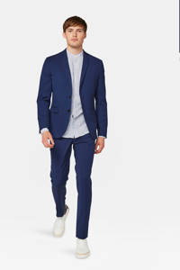 WE Fashion slim fit colbert donkerblauw, Donkerblauw