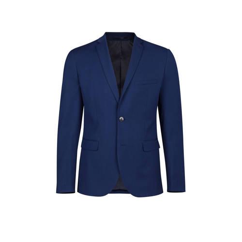 WE Fashion slim fit colbert donkerblauw