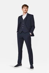 WE Fashion slim fit colbert donkerblauw, Royal Navy