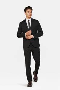 WE Fashion regular fit colbert zwart, Zwart