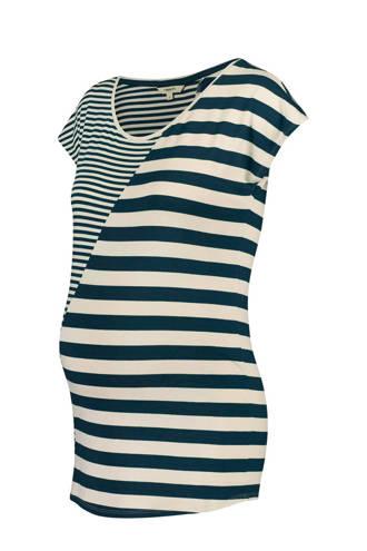 gestreept zwangerschaps T-shirt Pearle blauw